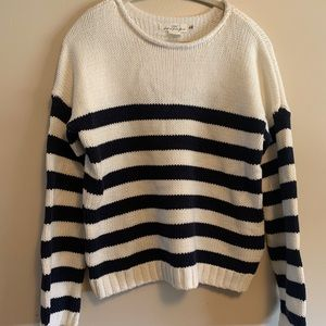 H&M woven cotton stripped sweater